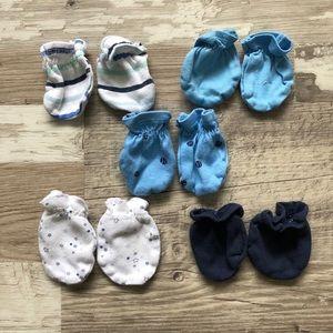 EUC Newborn Infant Mittens Lot/Bundle